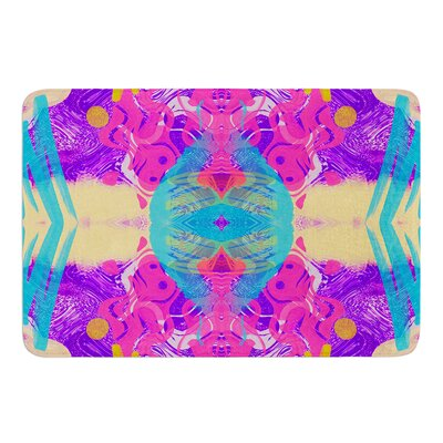 Glitch Kaleidoscope by Vasare Nar Bath Mat