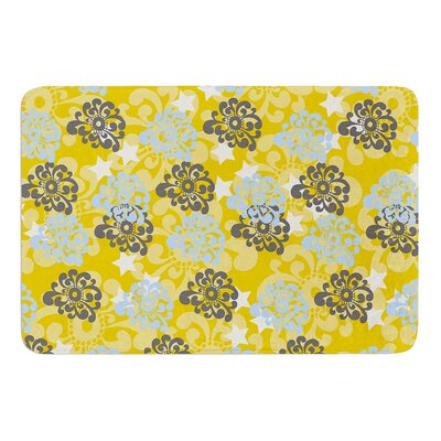 Blue and Yellow Flowers by Nandita Singh Bath Mat
