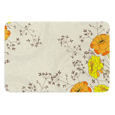 Flowers and Twigs by Nandita Singh Bath Mat