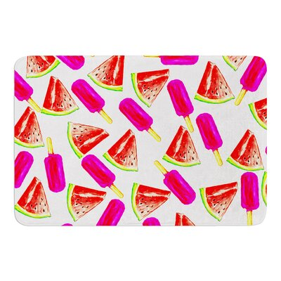 Strawberry and Watermelon by Sreetama Ray Bath Mat