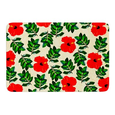 No More Peonies by Sreetama Ray Bath Mat