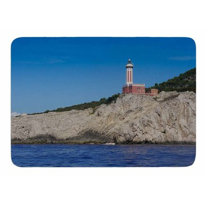 Happy Lighthouse by Violet Hudson Bath Mat