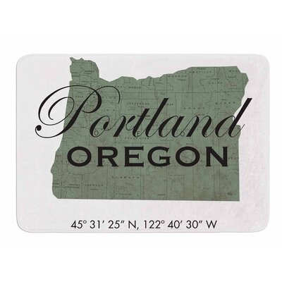 Portland Coordinates by Juan Paolo Bath Mat