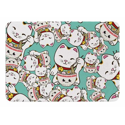 Ramen Cats by Juan Paolo Bath Mat