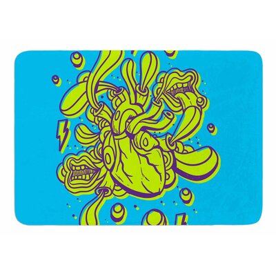 Doodle Surreal Heart by Roberlan Bath Mat