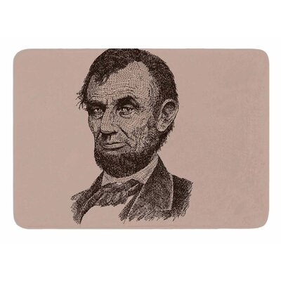 Abraham Lincoln by BarmalisiRTB Bath Mat