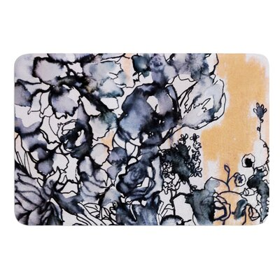 Inky Bouquet by Sonal Nathwani Bath Mat