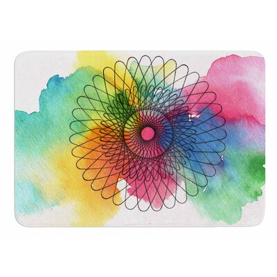 Rainbow Spiro by Sonal Nathwani Bath Mat