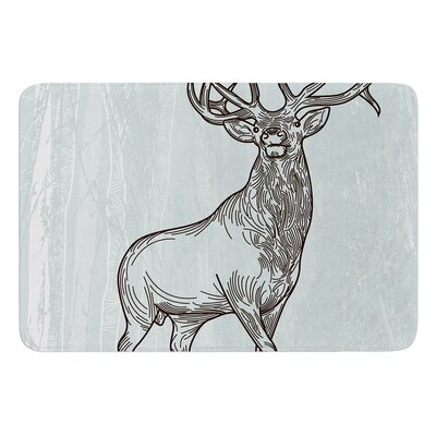 Elk Scene by Sam Posnick Bath Mat
