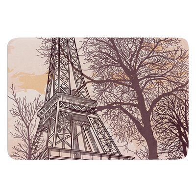 Eiffel Tower by Sam Posnick Bath Mat