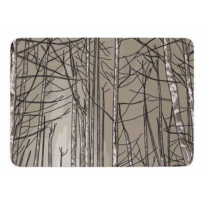 Smokey Forest Fire by Sam Posnick Bath Mat