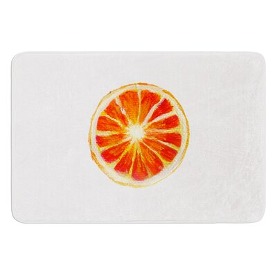 Grapefruit by Theresa Giolzetti Bath Mat