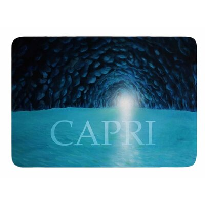 The Blue Grotto Of Capri by Theresa Giolzetti Bath Mat