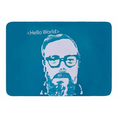 Hello World by Theresa Giolzetti Bath Mat