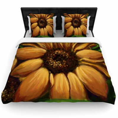 Sunflower Days Woven Duvet Cover Size: Queen