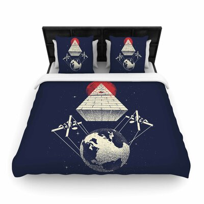 Under Control Woven Duvet Cover Size: Queen