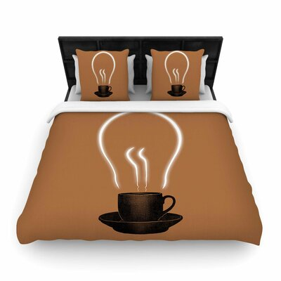 The Power Of Coffee Woven Duvet Cover Size: Twin