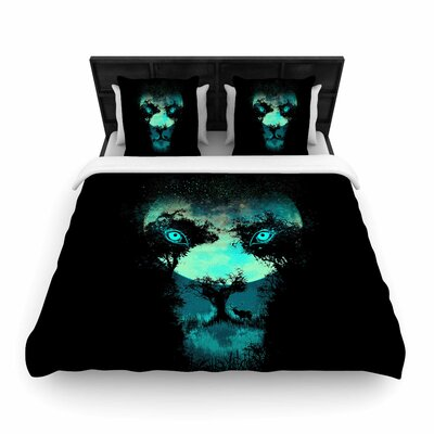 Silence Hunter Woven Duvet Cover Size: Queen