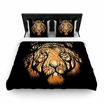 Hidden Hunter Woven Duvet Cover Size: Queen