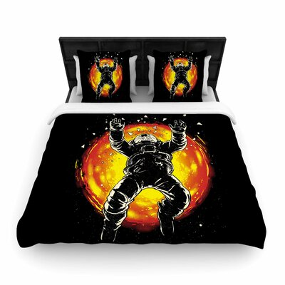 Lost In The Space Woven Duvet Cover Size: Queen