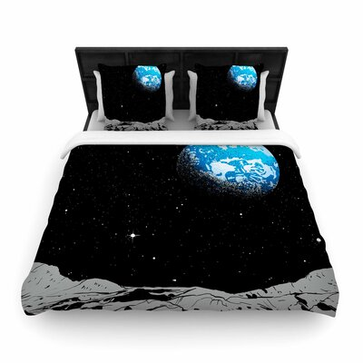 From The Moon Woven Duvet Cover Size: Queen