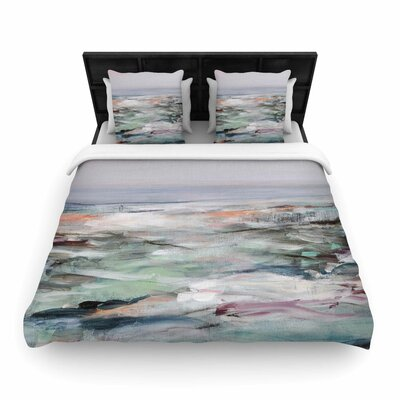Coastal Scenery Woven Duvet Cover Size: Twin