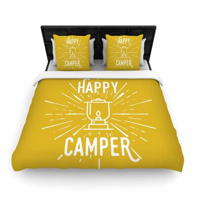 Happy Camper Woven Duvet Cover Size: Twin