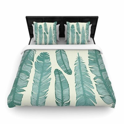 Balsam Feathers Woven Duvet Cover Size: King
