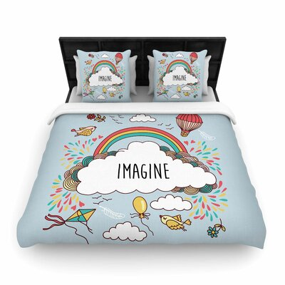 Imagine Woven Duvet Cover Size: King