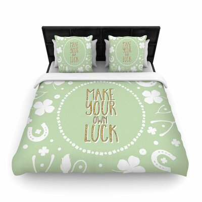 Own Luck Woven Duvet Cover Size: Twin