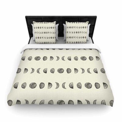 Phases Of The Moon Woven Duvet Cover Size: King