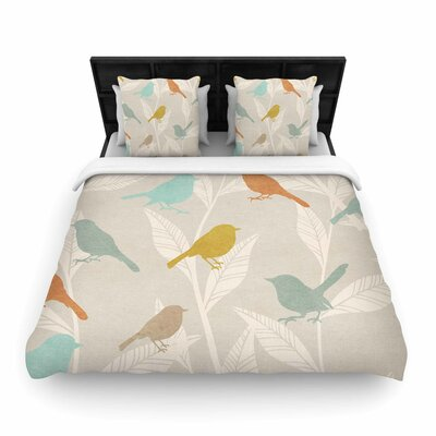 Tweet Woven Duvet Cover Size: Twin