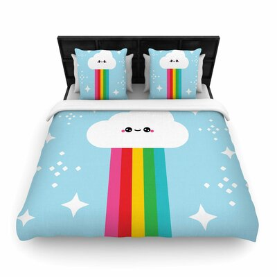 Mr. Rainbow Woven Duvet Cover Size: Twin
