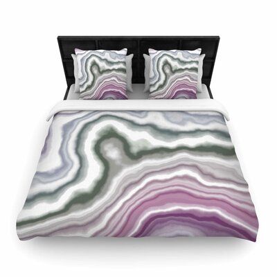 Wild Boysenberry Woven Duvet Cover Size: Queen