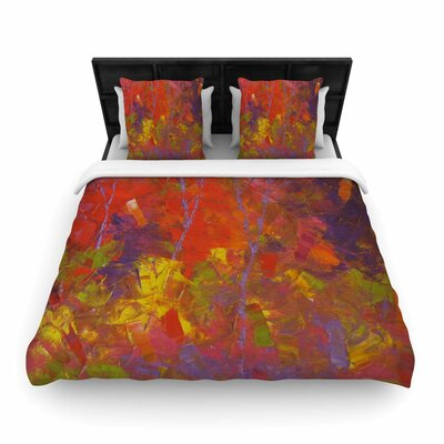 Forest Kaleidescope Woven Duvet Cover Size: Queen
