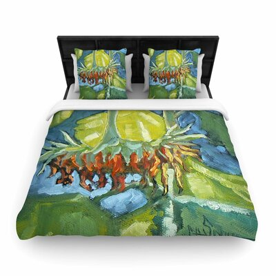 Summers End Woven Duvet Cover Size: Queen