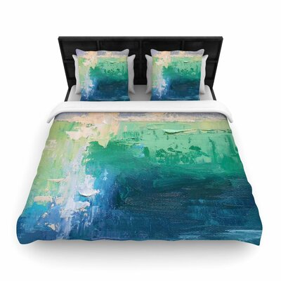 Sea Music Woven Duvet Cover Size: King