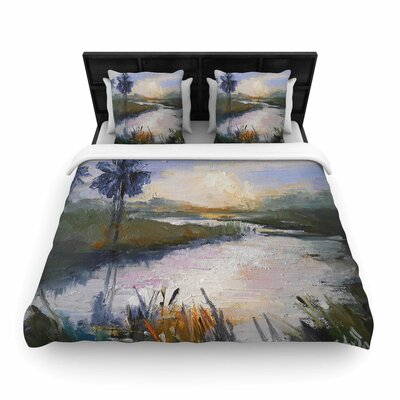 Florida Marshland Woven Duvet Cover Size: Queen
