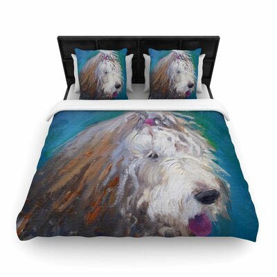 Shaggy Dog Story Woven Duvet Cover Size: Queen