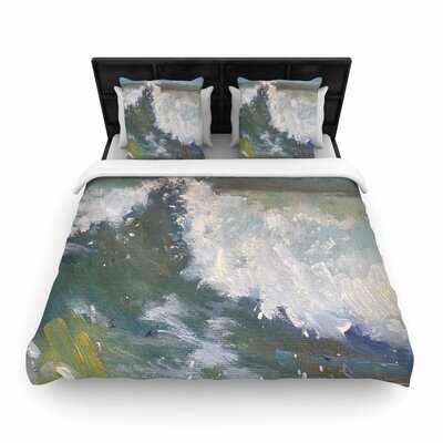 The Crest Woven Duvet Cover Size: King