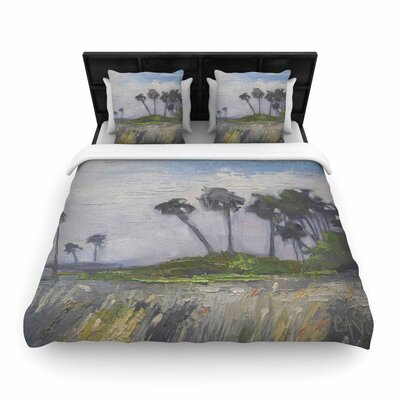 Wetlands Woven Duvet Cover Size: King