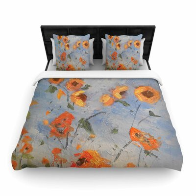 Colorado Kansas Line Woven Duvet Cover Size: Queen
