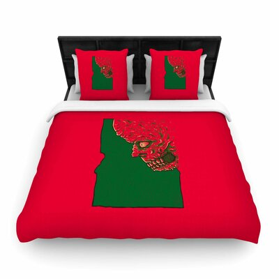 Idaho Zombie Woven Duvet Cover Size: Twin
