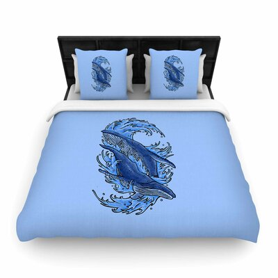 Humpback Whales  Woven Duvet Cover Size: King