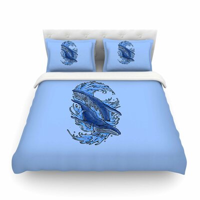 Humpback Whales Duvet Cover Size: King