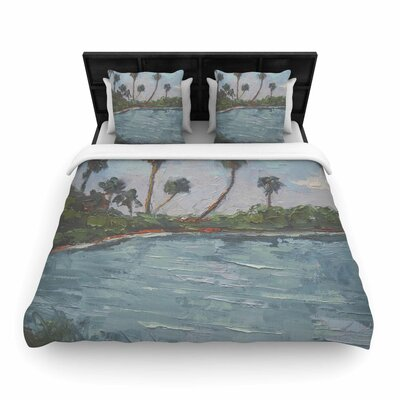 Lagoon Woven Duvet Cover Size: Twin