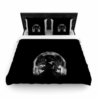 Headphone Woven Duvet Cover Size: Twin