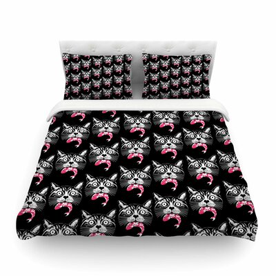 Hungry Cat Duvet Cover Size: Twin
