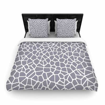 Staklo II Woven Duvet Cover Size: King