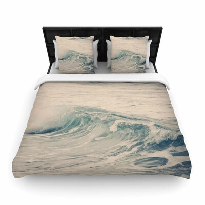 Waves 1 Woven Duvet Cover Size: Twin